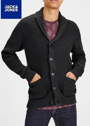 Комфортный хлопковый кардиган кофта датского модного бренда jack & jones.