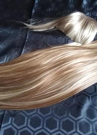 Волосы для домашнего наращивания трессами, набор, чёлка и трессы