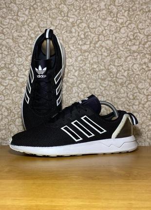 Мужские чёрные спортивные кроссовки adidas zx flux adv s79005 оригинал размер 40 2/3