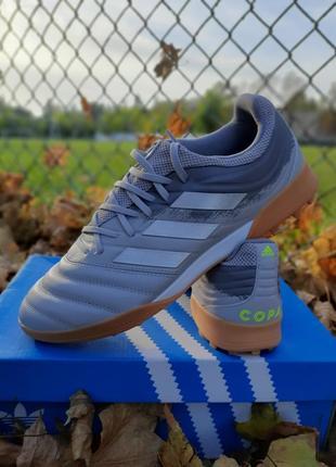Новые кожаные сороконожки adidas copa 20.3  tf. оригинал