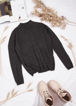 Базовый свитер серый