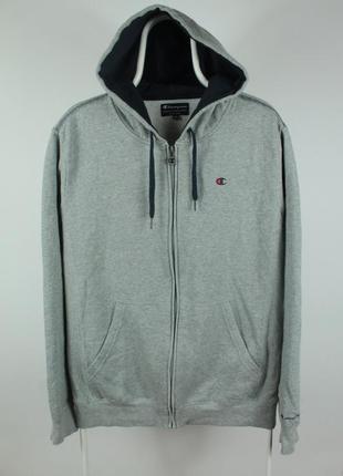 Оригинальная толстовка champion full zip gray hoodie