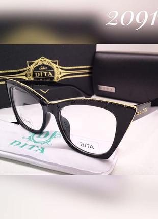 Женские имиджевые очки в черной оправе dita