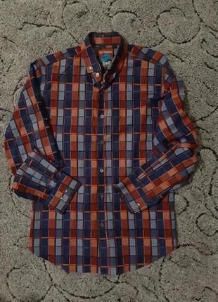 Мужская рубашка, сорочка в клетку