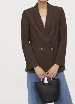 Пиджак двубортный из вискозы h&m м