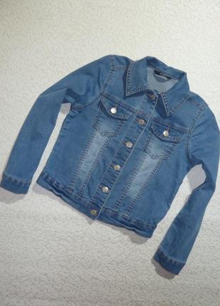 Джинсовая куртка / пиджак / джинсовка george на 9-10 лет