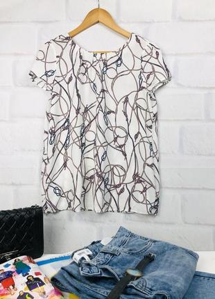 Блуза легкая в принт « веревки- узлы»
