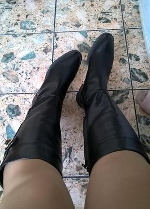 Модные зимнее сапоги parfois на меху 27 см по стельке.