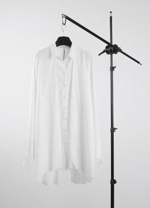 Удлиненная авангардная рубашка masnada оригинал