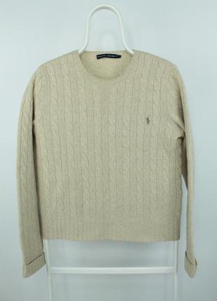 Оригинальный красивый укороченый свитерок polo ralph lauren