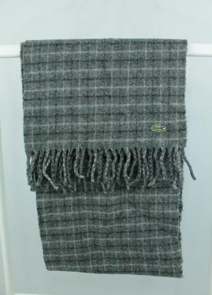 Оригинальный шерстяной шарф lacoste