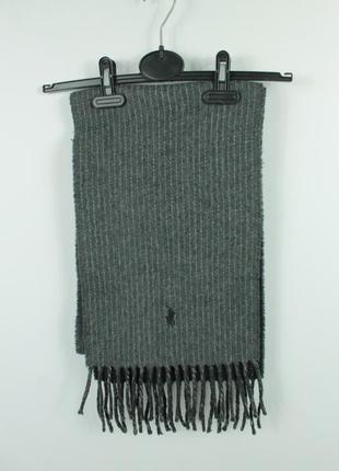 Оригинальный шарф polo ralph lauren 100% шерсть