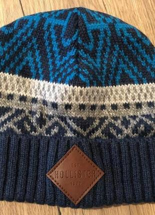 Hollister оригинал шапка холлистер брендовая подарок мужчине мужская вязаная теплая