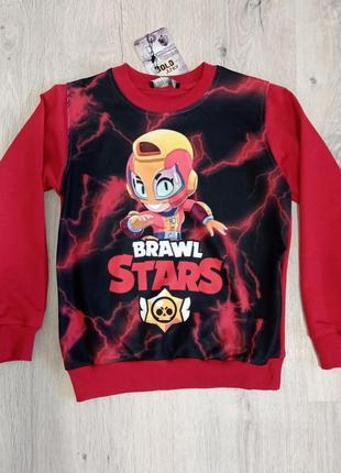 Яркий свитшот реглан  brawl stars