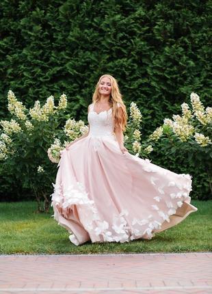 Свадебное платье сказочное «бабочки»