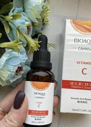 Bioaqua сahnsai vitamin c essence сыворотка для лица с витамином с, 30 мл