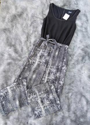 Новый брючный комбинезон с широкими брюками палаццо yessica