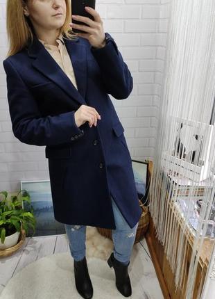 Стильное шерстяное пальто прямого кроя от asos