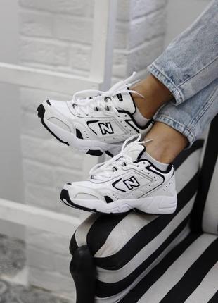New balance 452 white black  кроссовки нью беланс наложенный платёж купить