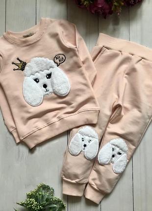 Детский костюм турция двунитка для девочки