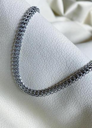 Серебряная цепь, с чернением цепочка