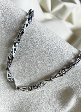 Цепь серебряная, цепочка серебряная мужская