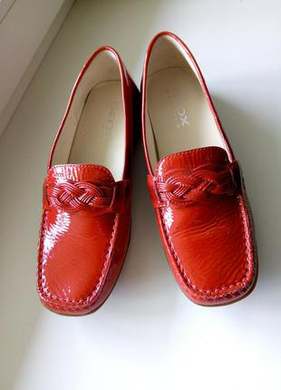 Мокасины  geox красные 37 размер