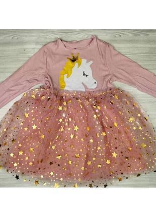 Сукня для дівчаток з єдинорогом
