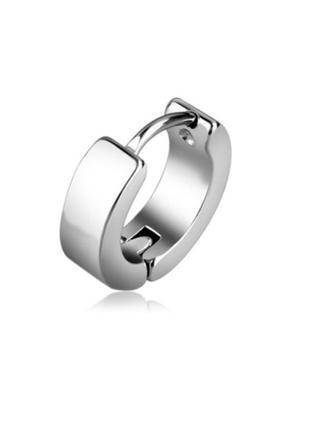1шт крутая серьга унисекс сережки серебристый кольцо рок