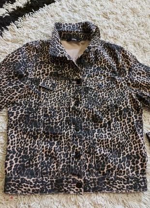 Пиджак леопардовый рубашка джинсовая леопардовая курточка
