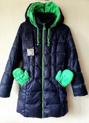Супер теплый пуховик с карманами и рукавичками kuckuck