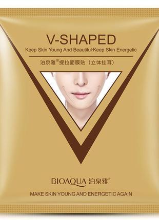 Маска-салфетка подтягивающая bioaqua v-shaped