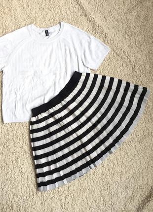 Шифоновая плиссированая юбка h&m divided