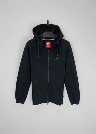 Nike tech fleece кофта худі  в чорному кольорі, свіжі колекції