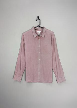Calvin klein гарна сорочка в дрібну полоску.
