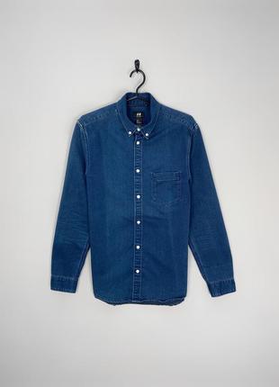 H&m практична щоденна сорочка з якісного деніму. regular fit