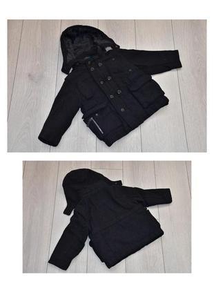 Теплое черное пальто 2 3 года next оригинал