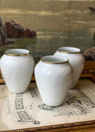 Прекрасные винтажные фарфоровые вазы bing&grondahl