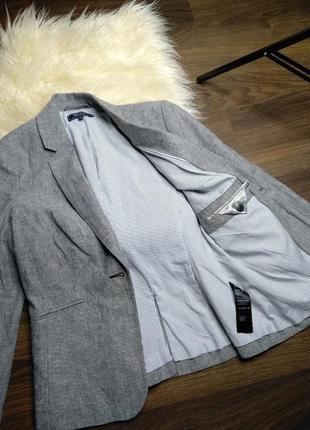 Стильный льняной пиджак / жакет