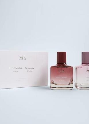 Zara набор pink flambe winter × tuberose winter 2×100 ml edt