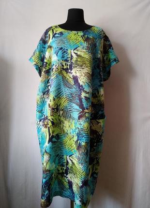 Роскошное длинное льняное платье/100% лен/ германия