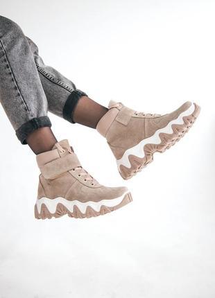 Ботинки с итальянской замши байка/мех