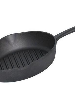 Чугунная сковорода гриль биол 24 см