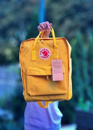 💛fjallraven kanken yellow💛рюкзак канкін 16л жовтий