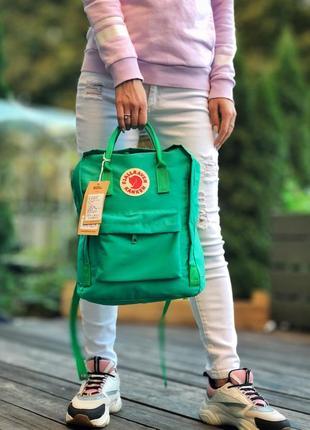 💚fjallraven kanken green💚 рюкзак канкін 16л зелений