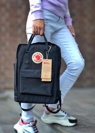 🖤fjallraven kanken black🖤чорний рюкзак канкін 16л