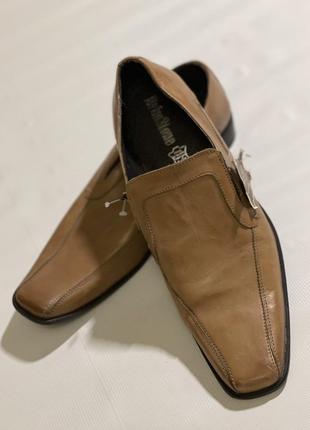 Классические мужские кожаные туфли 45 размера