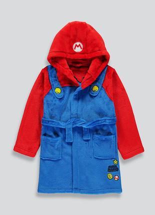 Красивый брендовый мягкий теплый халат super mario