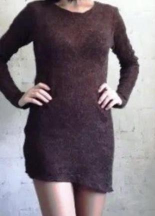 Дизайнерское тёплое платье свитер гольф туника украина mallmen