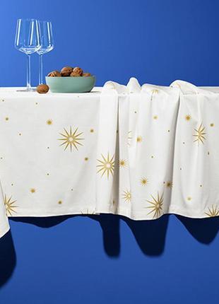 Шикарная праздничная скатерть с узором . германия. размеры 140*280, 150 * 272